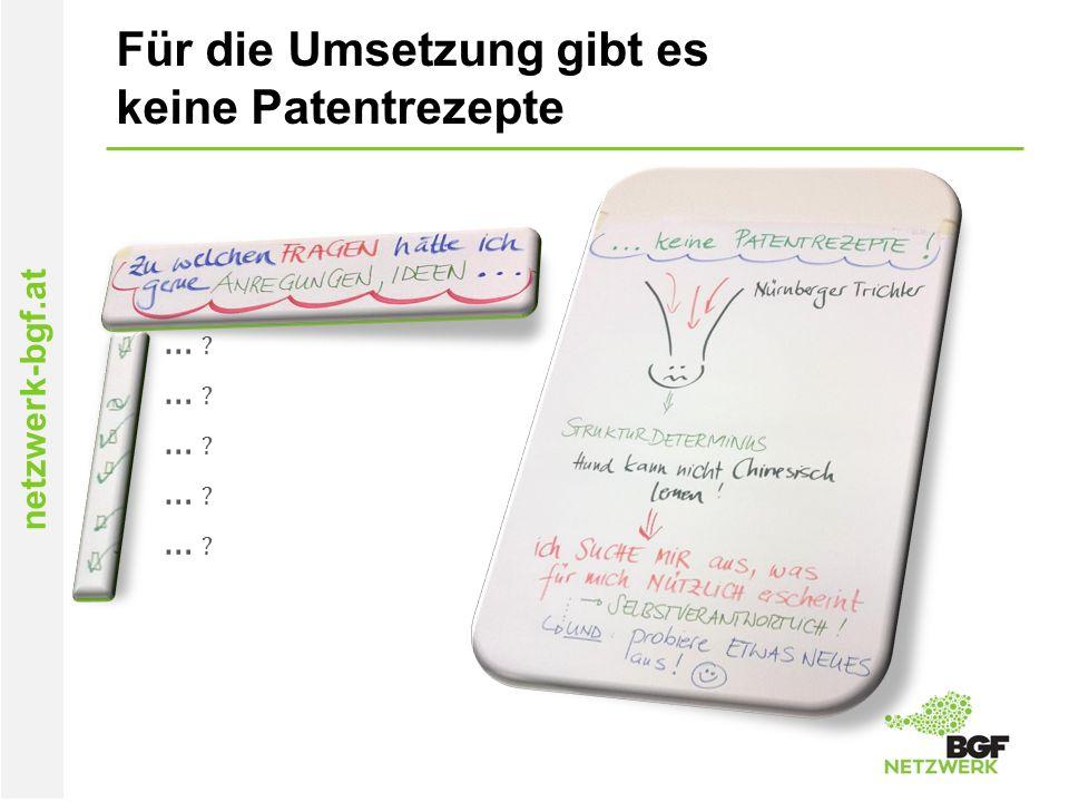 netzwerk-bgf.at Für die Umsetzung gibt es keine Patentrezepte … ?