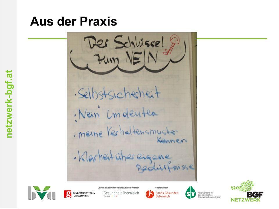 netzwerk-bgf.at Aus der Praxis