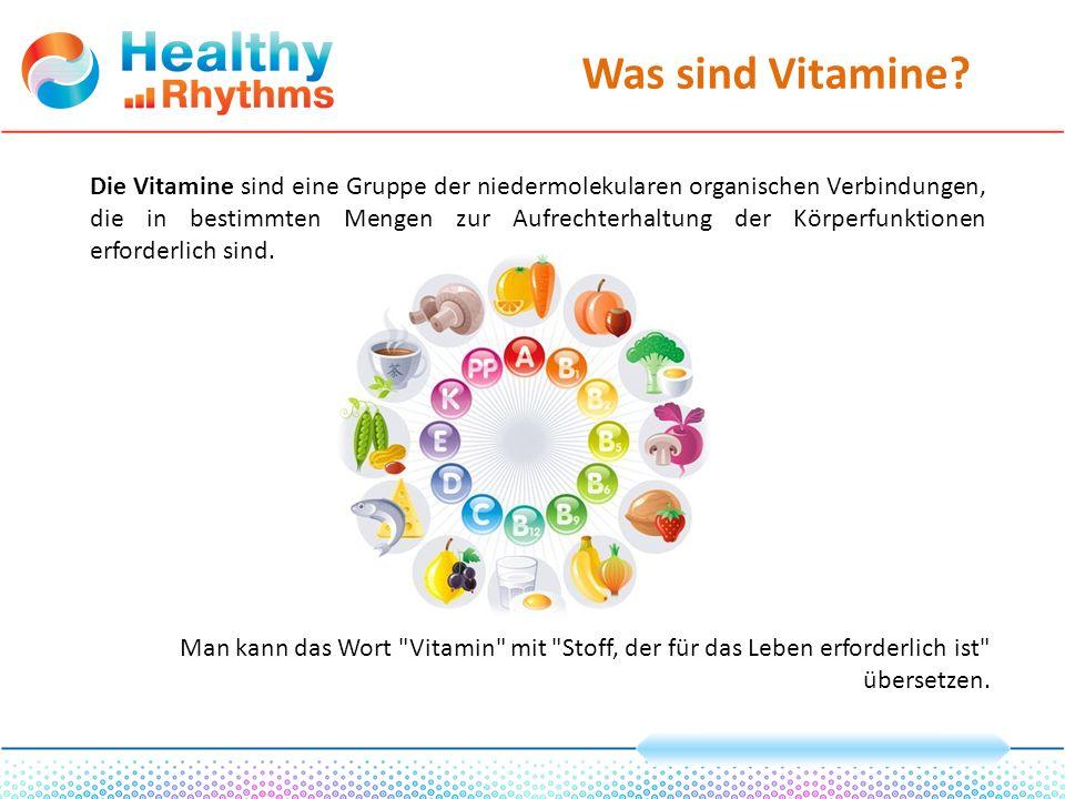 Was sind Vitamine.