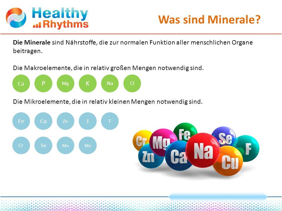 Warum sind Vitamine und Minerale notwendig.