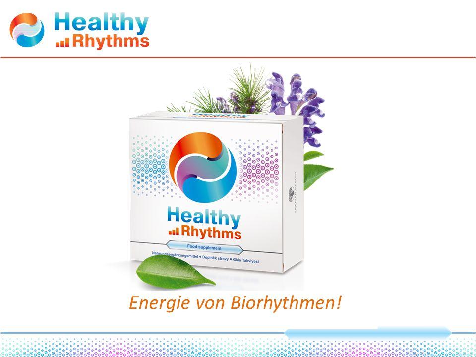 Bezeichnung Gehalt in der Komposition Healthy Rhythms, mg Vitamin А1,15 Vitamin В 1 1,46 Vitamin В 2 1,53 Vitamin В 6 1,9 Vitamin D 3 0,0132 Vitamin С106 Vitamin РР (Nicotinamid) 14,9 mg NE Vitamin В 12 0,00323 Vitamin B 9 (Folsäure) 0,53 Vitamin K 1 0,072 Vitamin Е 19,4 mg α - TE Biotin0,12 Vitamin B 5 (Pantothensäure)5,22 Strandkiefer- Extrakt9 Lykopin4 Beta-Carotin5 Koenzym Q1011,3 Vitamin B 10 (p-Aminobenzoesäure)15,8 Vitamine und vitaminähnliche Stoffe