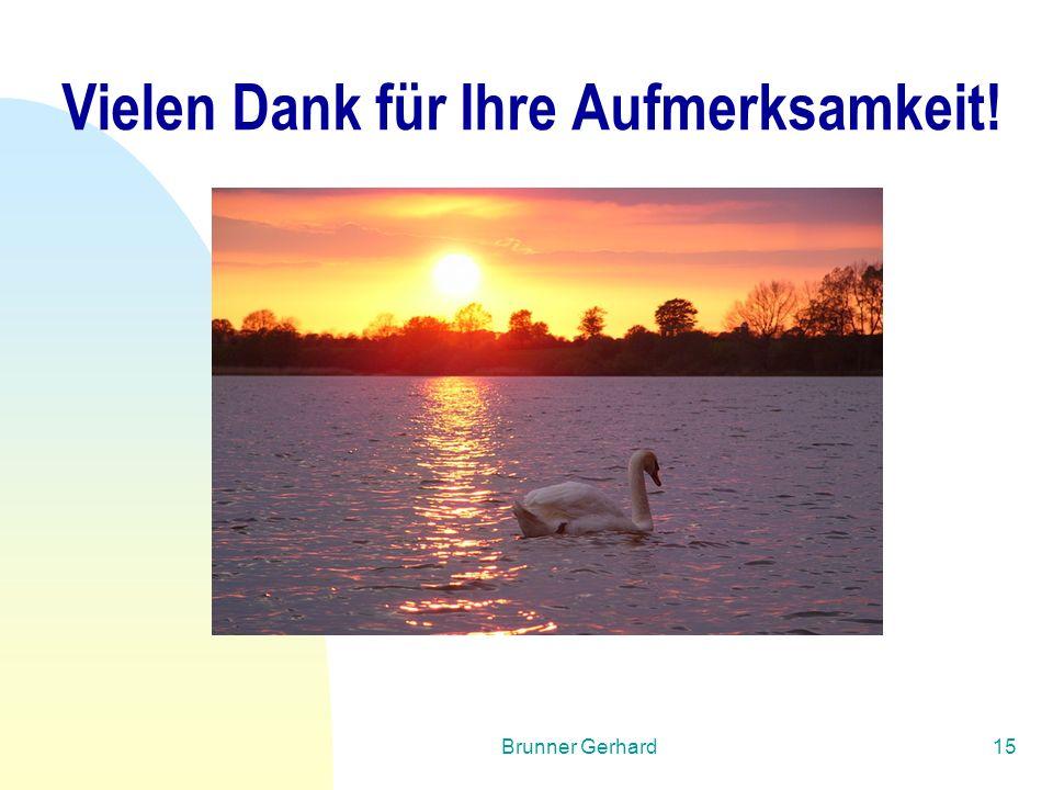 Brunner Gerhard15 Vielen Dank für Ihre Aufmerksamkeit!