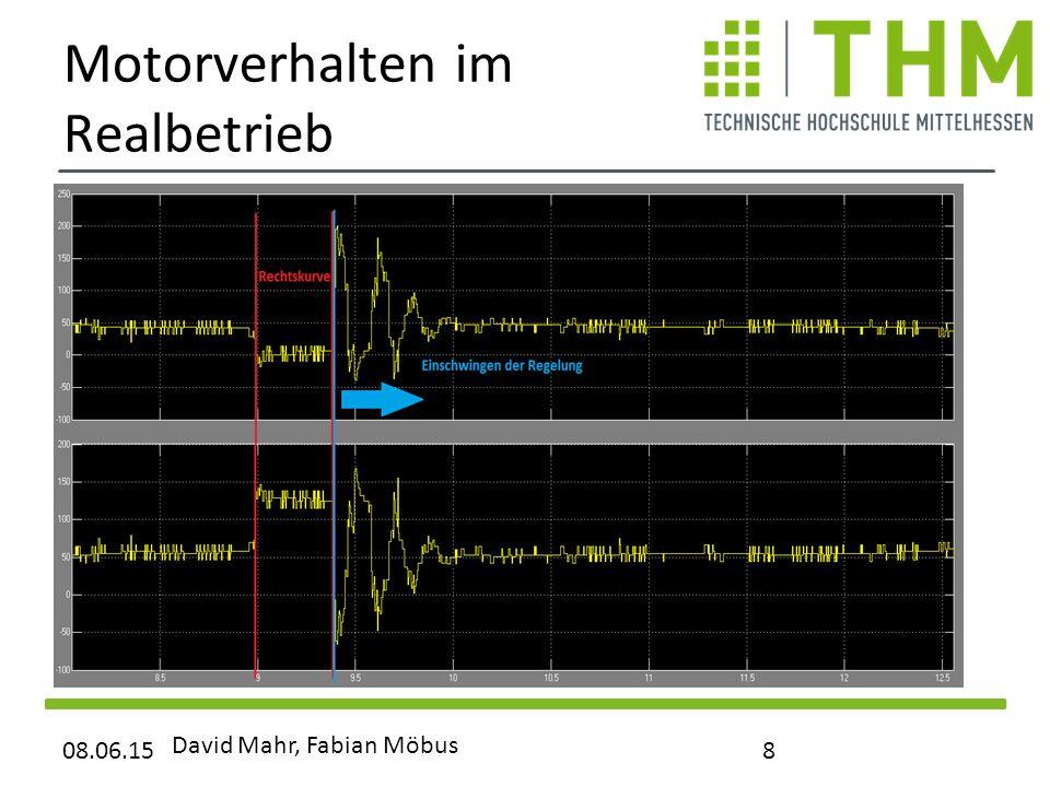 Motorverhalten im Realbetrieb 08.06.15 David Mahr, Fabian Möbus 8