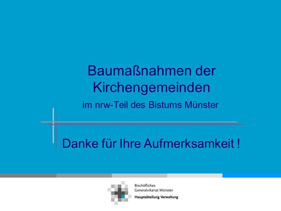 Baumaßnahmen der Kirchengemeinden im nrw-Teil des Bistums Münster Danke für Ihre Aufmerksamkeit !