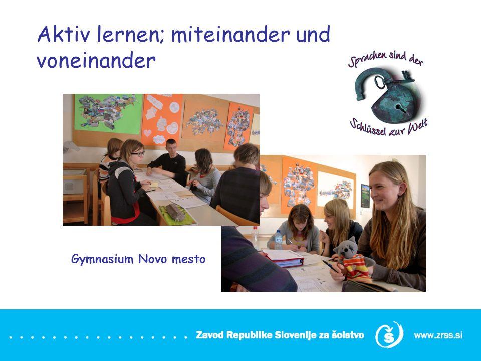 Aktiv lernen; miteinander und voneinander Gymnasium Novo mesto