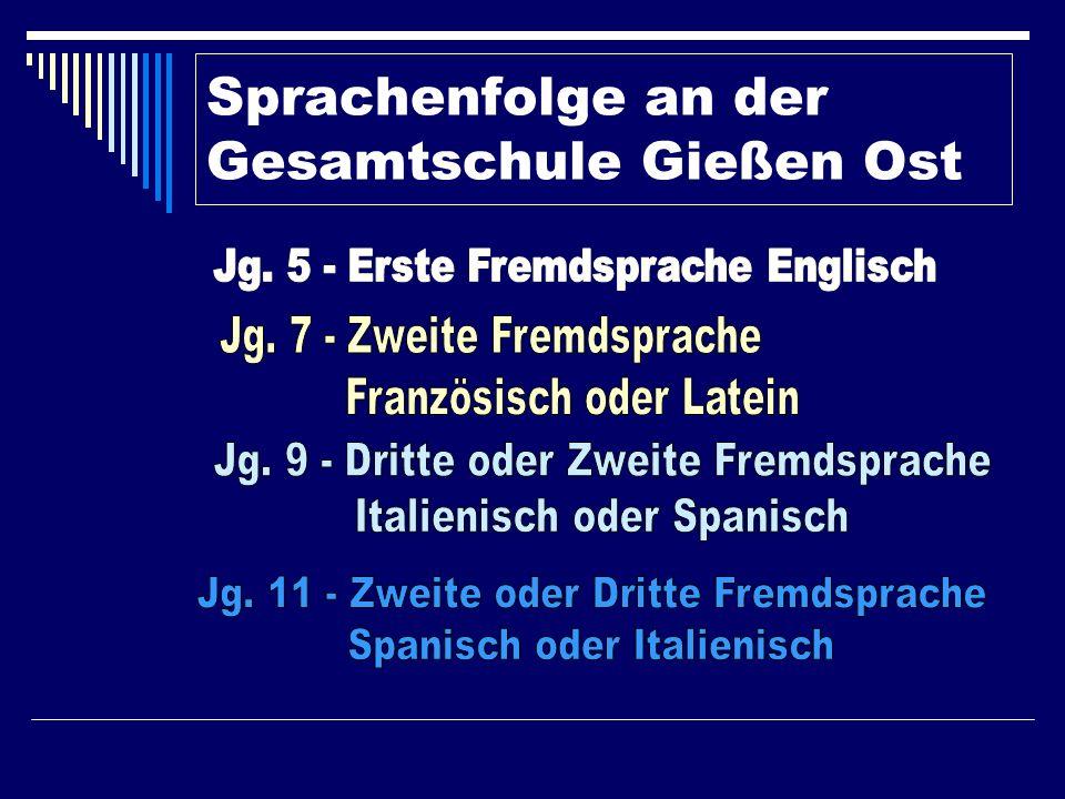 Jahrgang 7 – Neue Fächer Physik (2 Ws) Wahlpflichtunterricht I: Arbeitslehre (4 Ws) oder Französisch (5 Ws) oder Latein (5 Ws) – A-Kurs Niveau Die Wahl ist verbindlich für die Klassen 7 und 8.