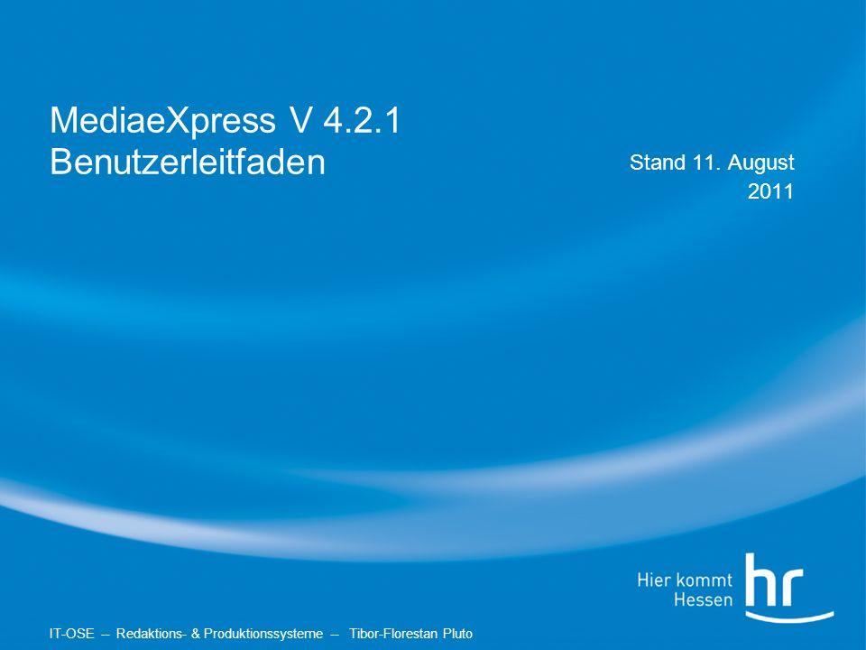 MediaeXpress V 4.2.1 Benutzerleitfaden Stand 11.
