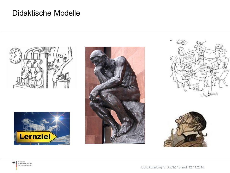 Didaktische Modelle BBK Abteilung IV, AKNZ / Stand: 12.11.2014