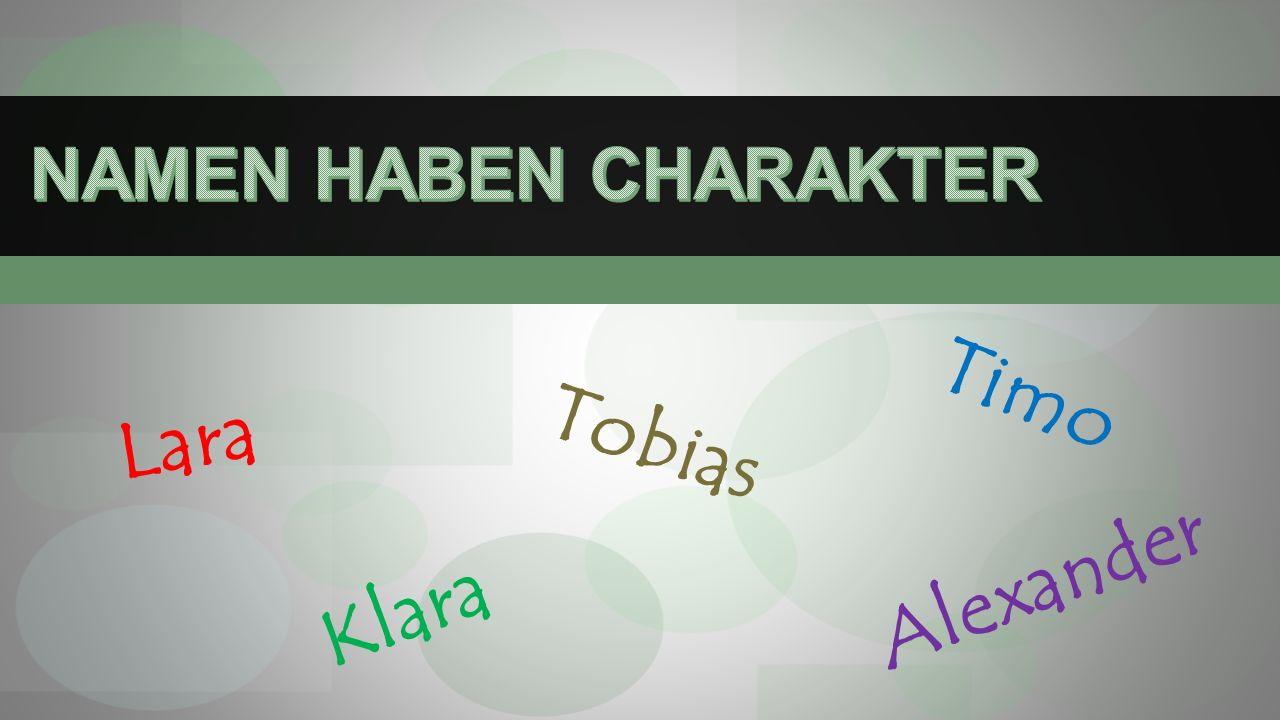 Tobias Lara Timo Alexander Klara