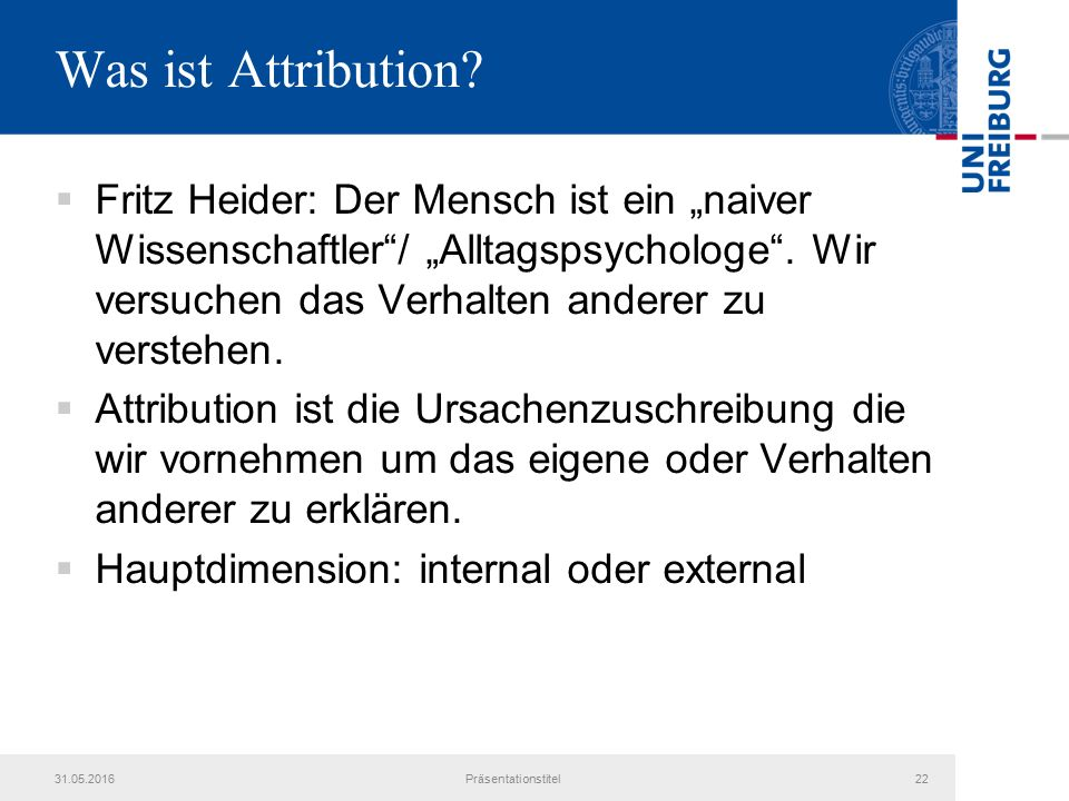 Was ist Attribution.
