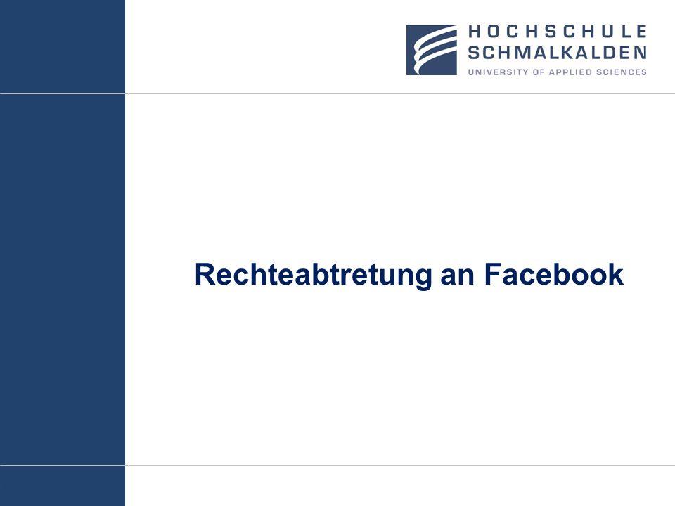 Rechteabtretung an Facebook