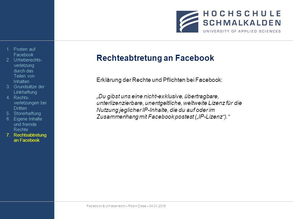 """Erklärung der Rechte und Pflichten bei Facebook: """"Du gibst uns eine nicht-exklusive, übertragbare, unterlizenzierbare, unentgeltliche, weltweite Lizen"""