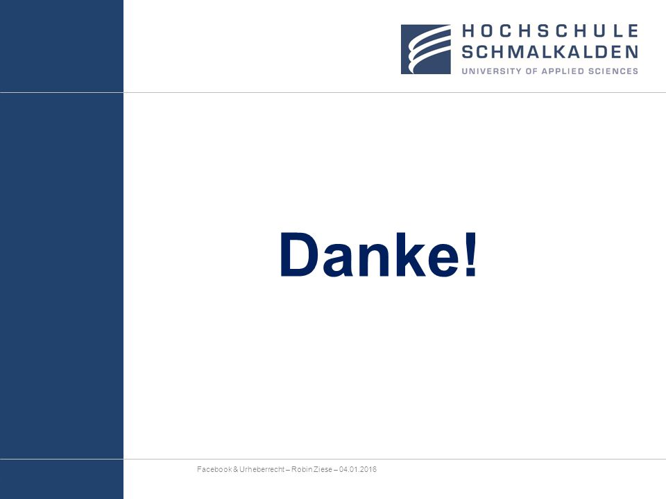 Danke! Facebook & Urheberrecht – Robin Ziese – 04.01.2016