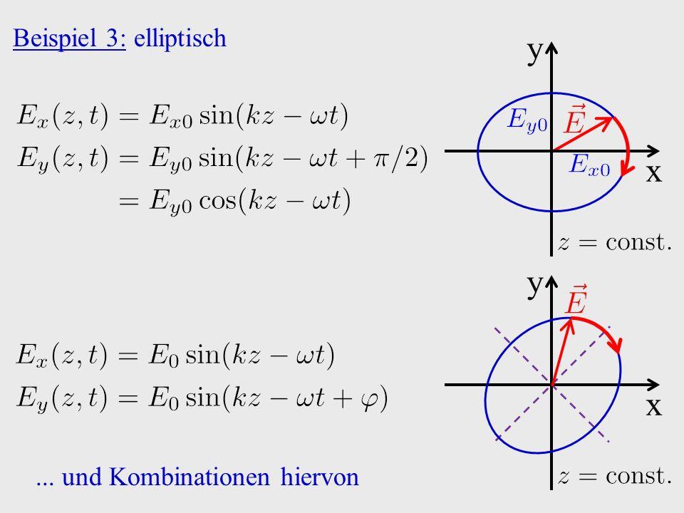 Beispiel 3: elliptisch x y x y... und Kombinationen hiervon