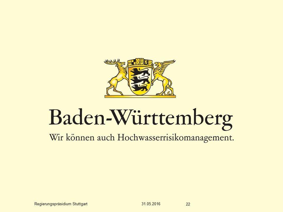 Regierungspräsidium Stuttgart 31.05.2016 22