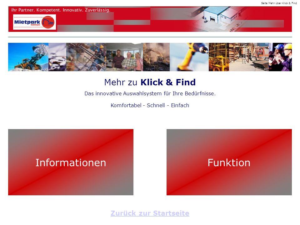 Mehr zu Klick & Find Das innovative Auswahlsystem für Ihre Bedürfnisse.