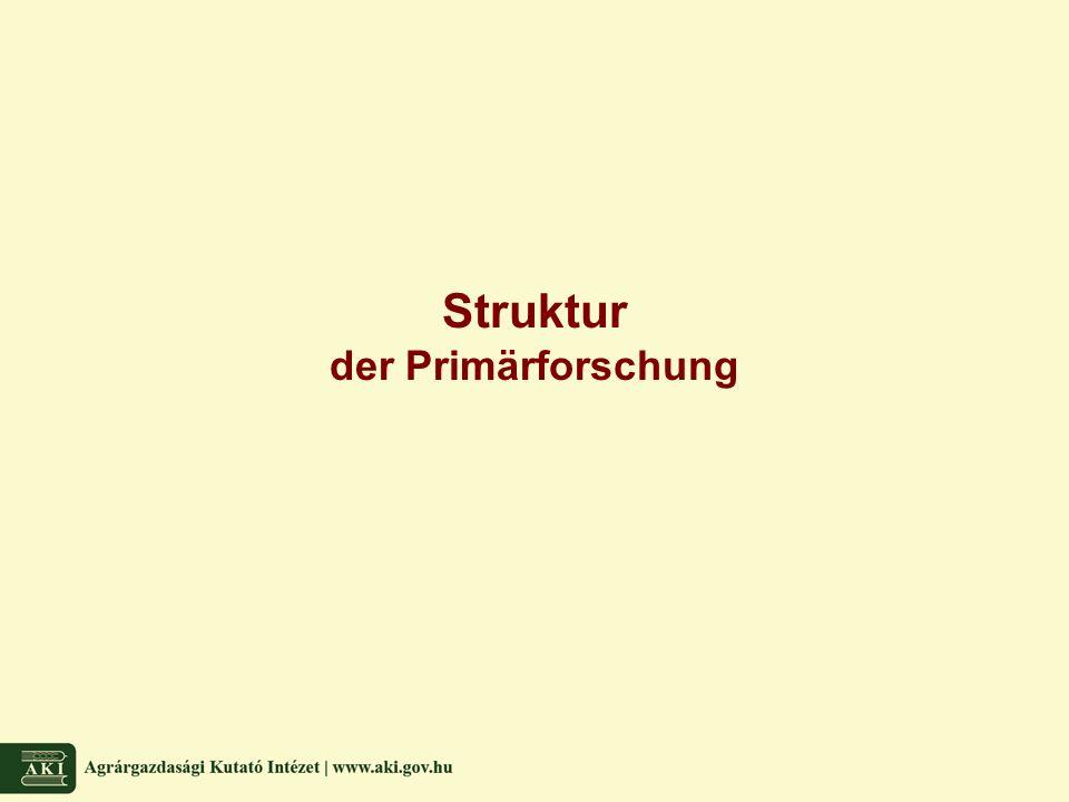 Struktur der Primärforschung