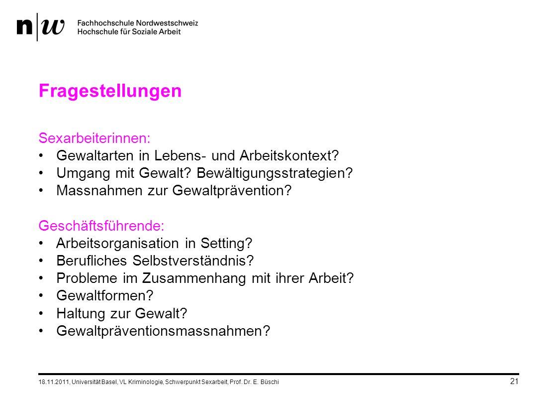 18.11.2011, Universität Basel, VL Kriminologie, Schwerpunkt Sexarbeit, Prof.