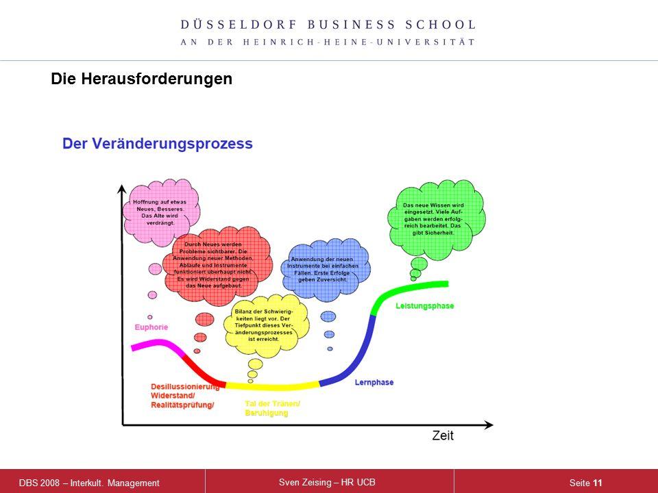 DBS 2008 – Interkult. Management Sven Zeising – HR UCB Seite 11 Die Herausforderungen
