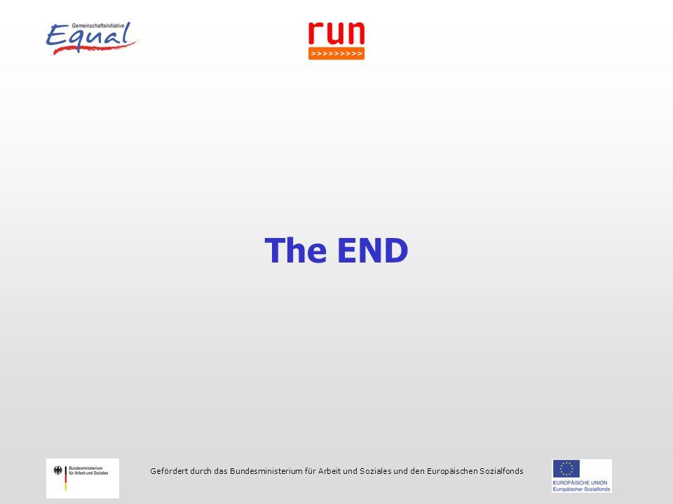 Gefördert durch das Bundesministerium für Arbeit und Soziales und den Europäischen Sozialfonds The END