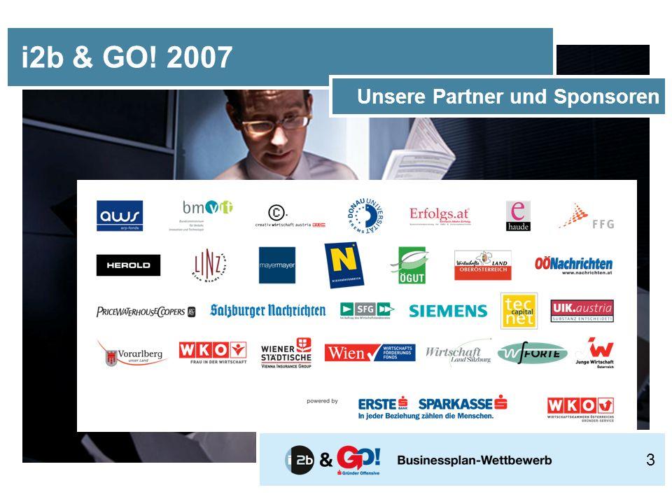 i2b & GO! 2007 Unsere Partner und Sponsoren 3