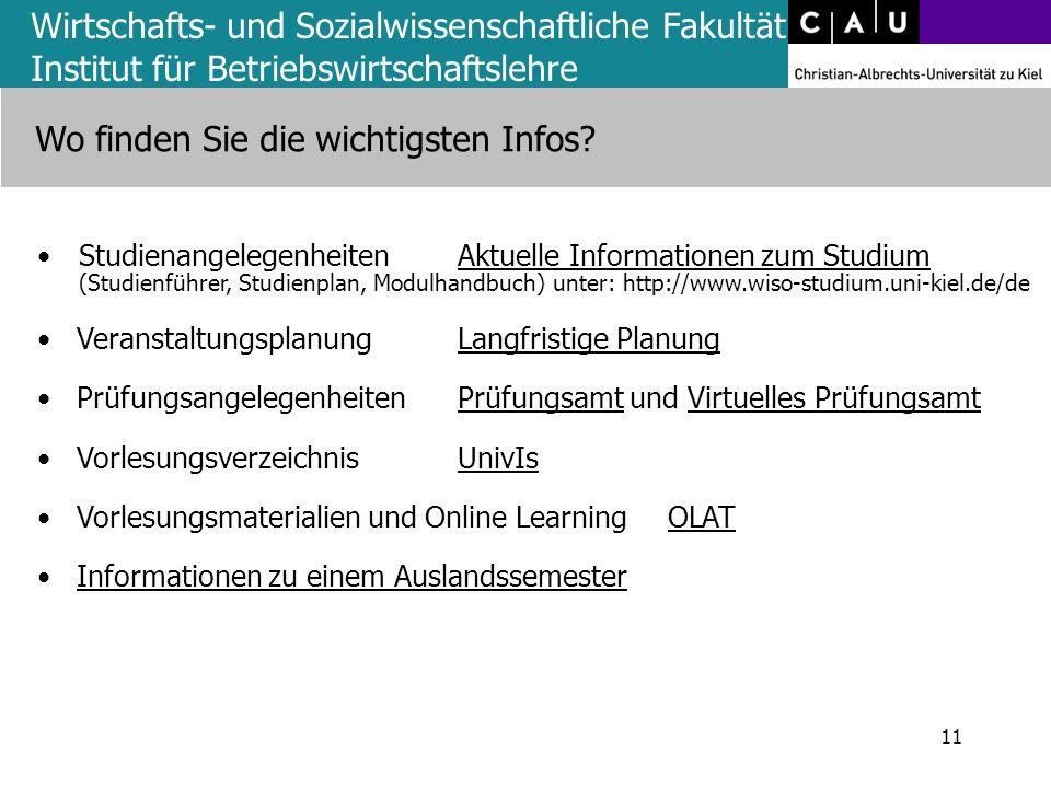 StudienangelegenheitenAktuelle Informationen zum Studium (Studienführer, Studienplan, Modulhandbuch) unter: http://www.wiso-studium.uni-kiel.de/deAktu