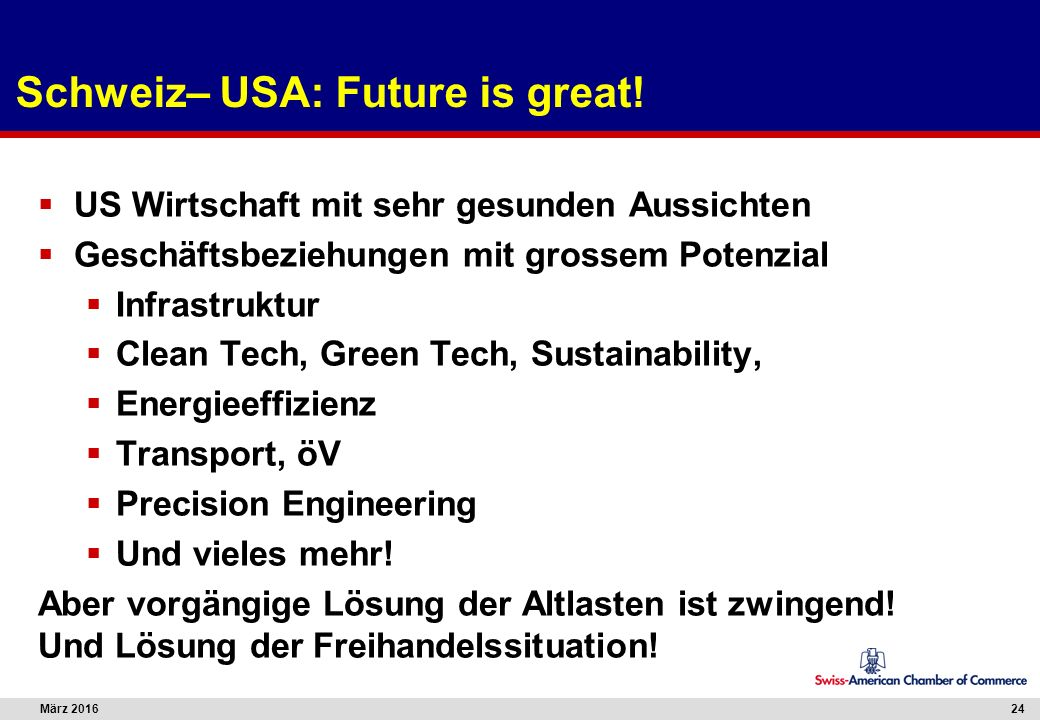 März 201624 Schweiz– USA: Future is great.