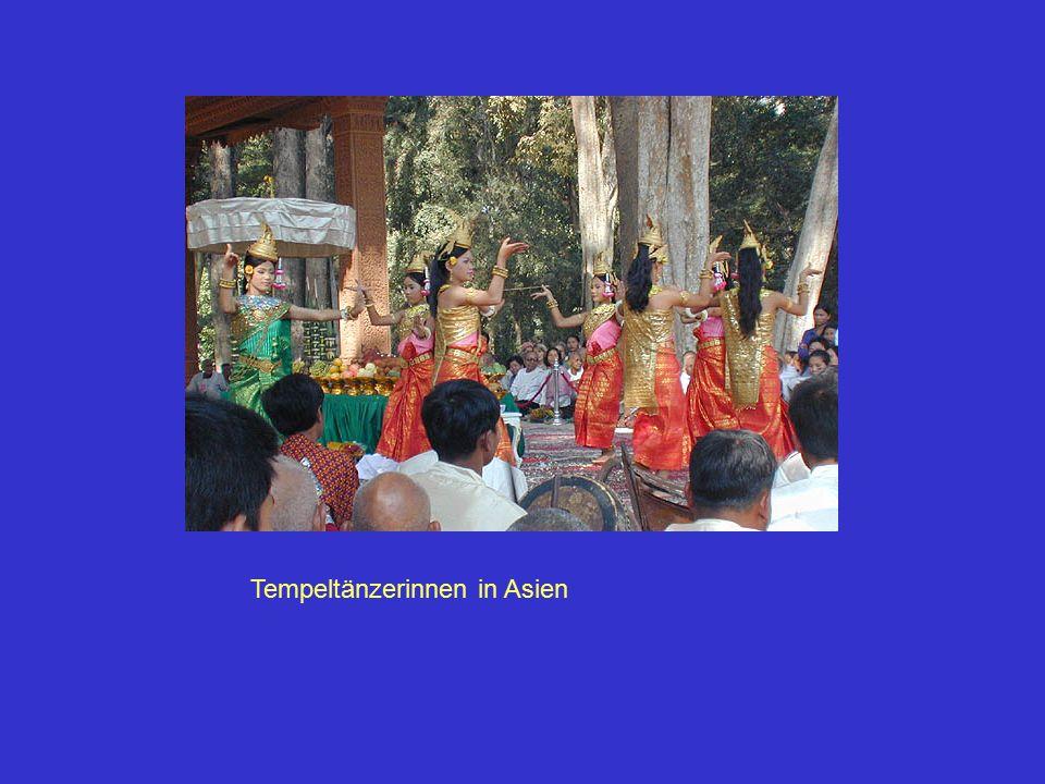 Tempeltänzerinnen in Asien