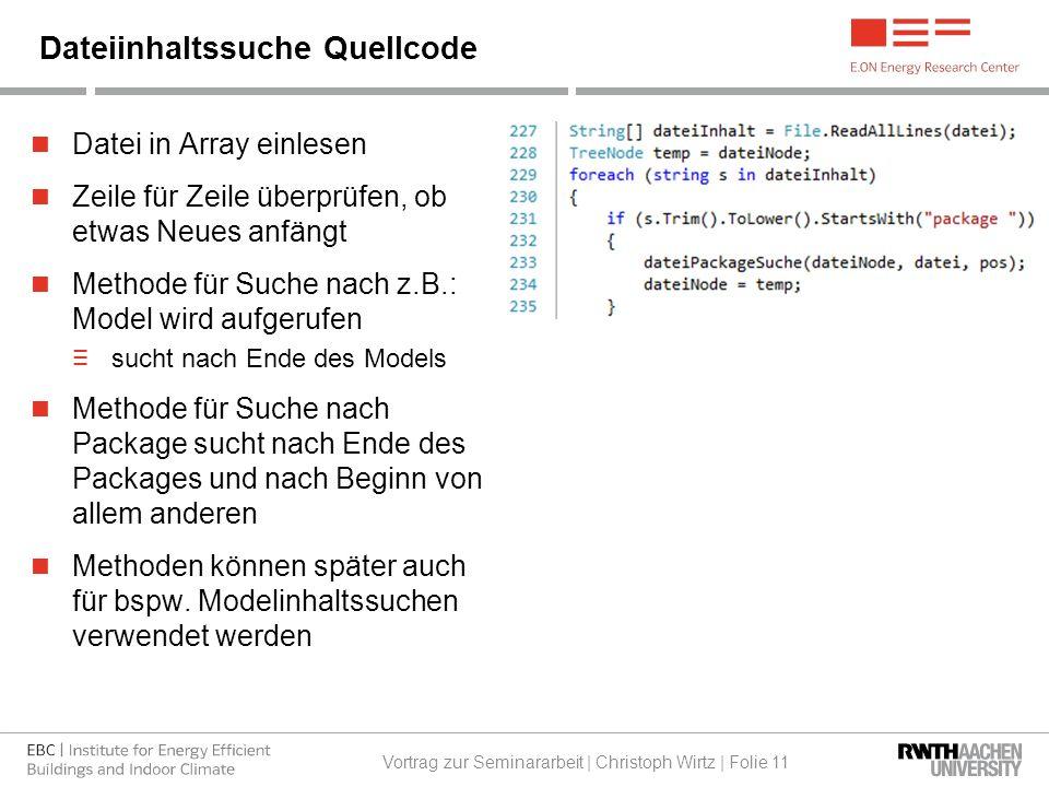 Datei in Array einlesen Zeile für Zeile überprüfen, ob etwas Neues anfängt Methode für Suche nach z.B.: Model wird aufgerufen ≡ sucht nach Ende des Models Methode für Suche nach Package sucht nach Ende des Packages und nach Beginn von allem anderen Methoden können später auch für bspw.