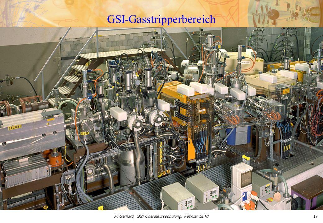 P. Gerhard, GSI Operateursschulung, Februar 201619 GSI-Gasstripperbereich