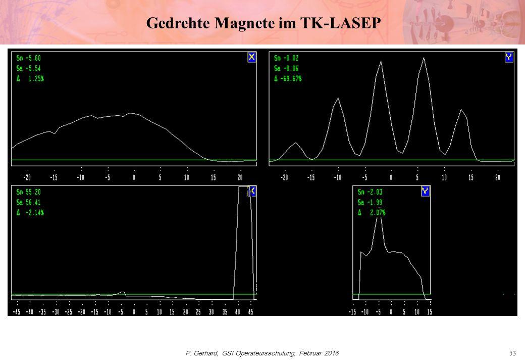 P. Gerhard, GSI Operateursschulung, Februar 201653 Gedrehte Magnete im TK-LASEP