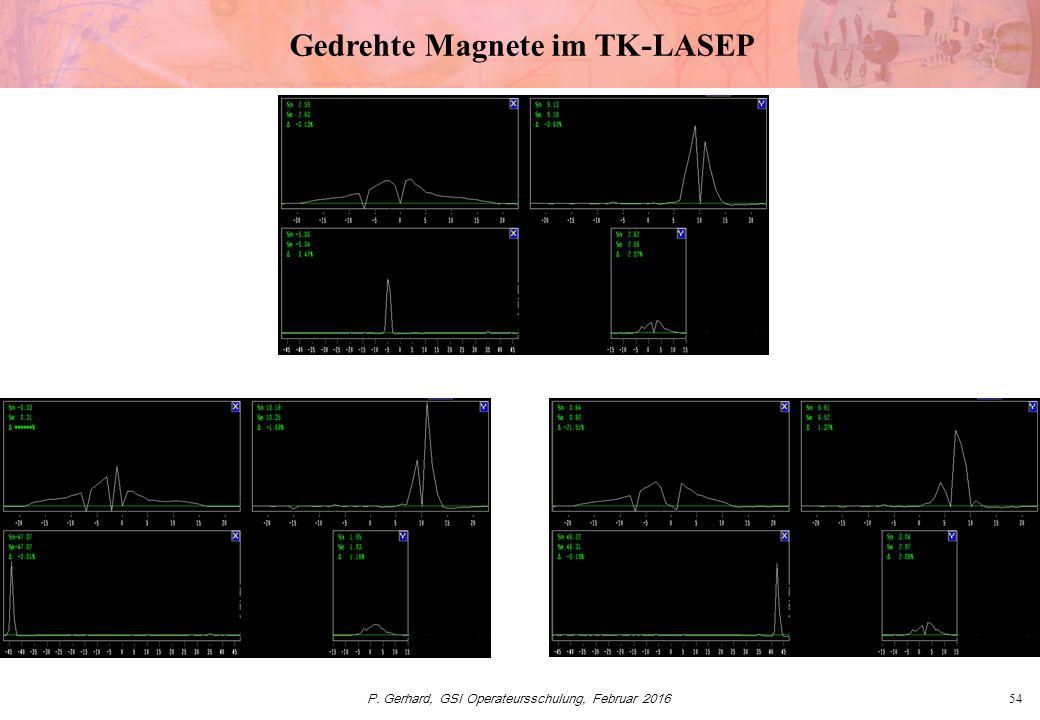P. Gerhard, GSI Operateursschulung, Februar 201654 Gedrehte Magnete im TK-LASEP