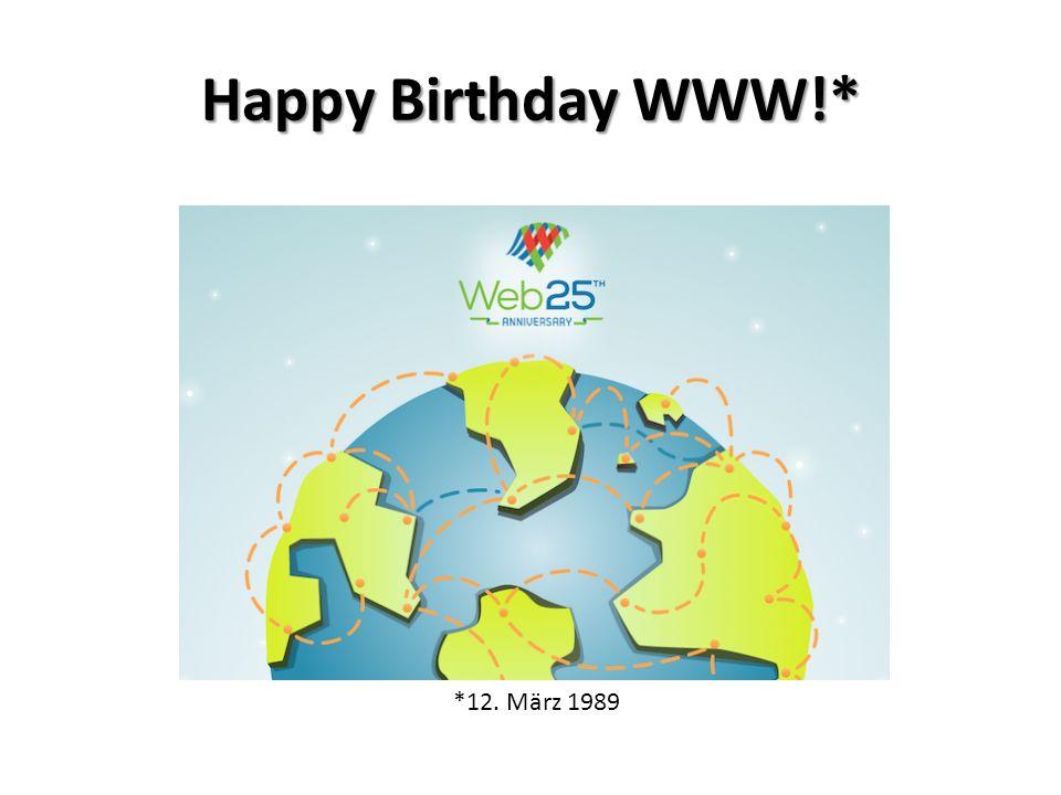 *12. März 1989 Happy Birthday WWW!*