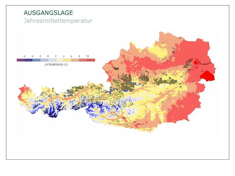ÖSTERREICHISCHE BUNDESFORSTE AG / Unternehmensleitung /Norbert Putzgruber AUSGANGSLAGE Mittlerer Jahresniederschlag Quelle: ÖWI 2000/2002