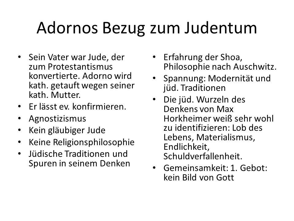"""Der Imperativ Die Negative Dialektik: Aufstellung eines neuen kategorischen Imperativs, den """"Hitler den Menschen aufgezwungen habe: """"Ihr Denken und Handeln so einzurichten, daß Auschwitz nicht sich wiederhole, nichts Ähnliches geschehe. Ethisch-politische Orientierung seines Denkens."""