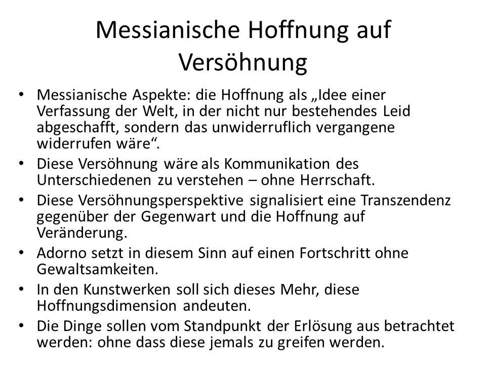 Dialektik der Aufklärung (1944/1947) Ergebnis des intensiven Gedankenaustauschs zwischen Max Horkheimer und Adorno.