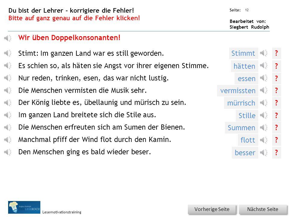 Übungsart: Seite: Bearbeitet von: Siegbert Rudolph Lesemotivationstraining 11 Silbenhammer Bitte klicken.