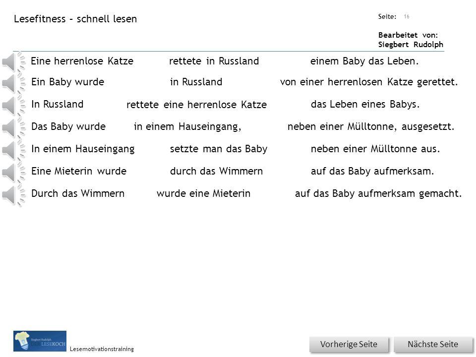 Übungsart: Seite: Bearbeitet von: Siegbert Rudolph Lesemotivationstraining 15 Du bist der Lehrer – korrigiere die Fehler.