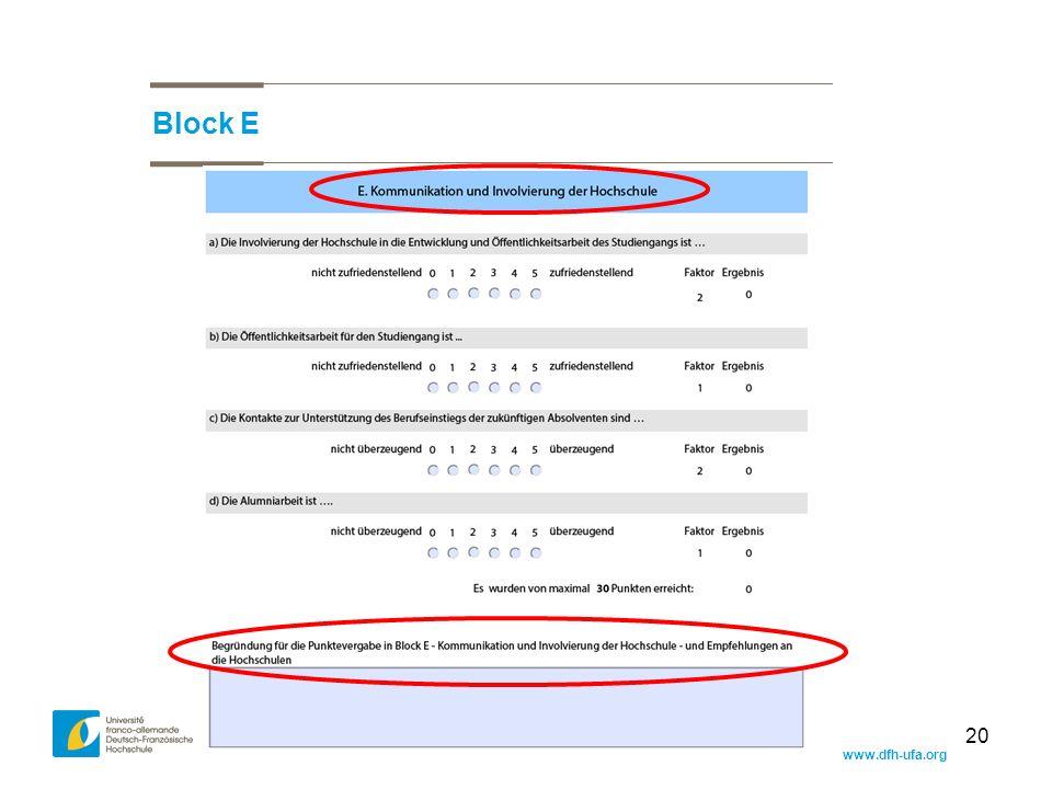 www.dfh-ufa.org 20 Block E