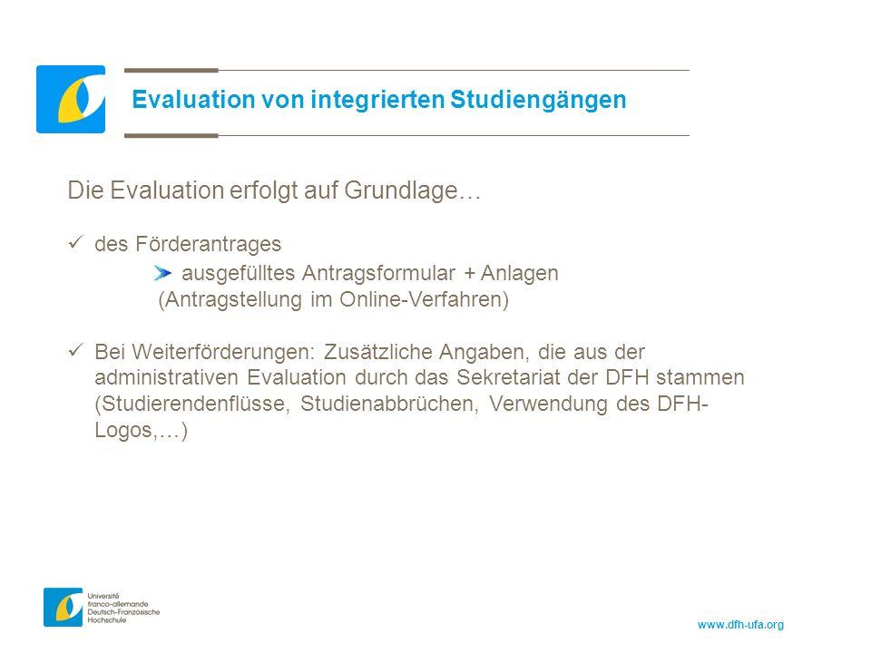 www.dfh-ufa.org Aufbau der Evaluationsbögen analog zum Antragsformular: