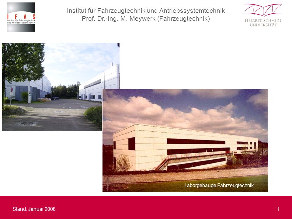 Institut für Fahrzeugtechnik und Antriebssystemtechnik Prof.