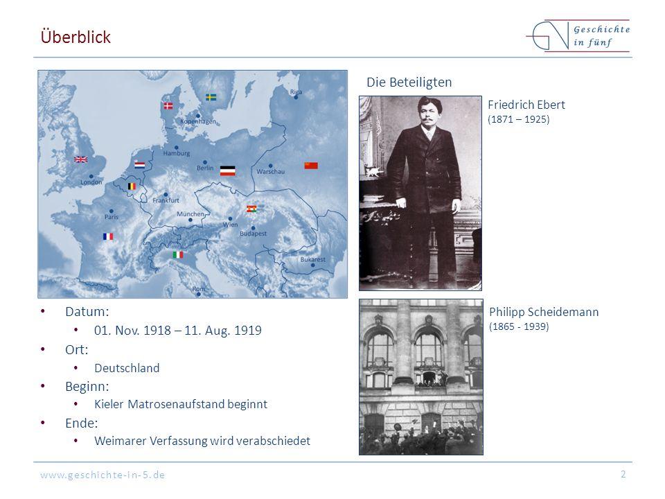 www.geschichte-in-5.de Überblick Datum: 01. Nov. 1918 – 11.