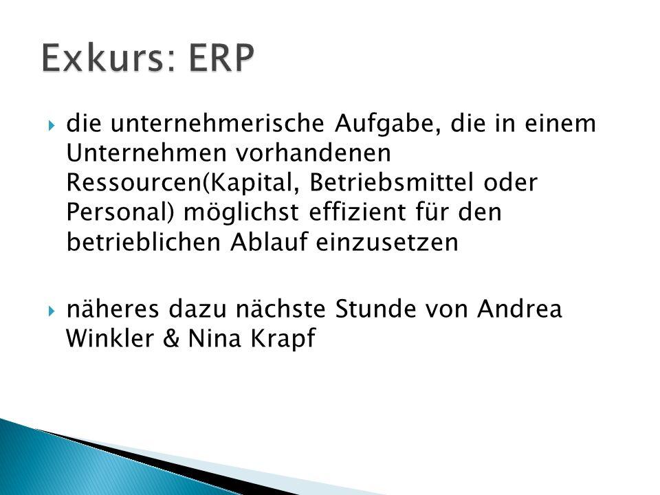  die unternehmerische Aufgabe, die in einem Unternehmen vorhandenen Ressourcen(Kapital, Betriebsmittel oder Personal) möglichst effizient für den betrieblichen Ablauf einzusetzen  näheres dazu nächste Stunde von Andrea Winkler & Nina Krapf