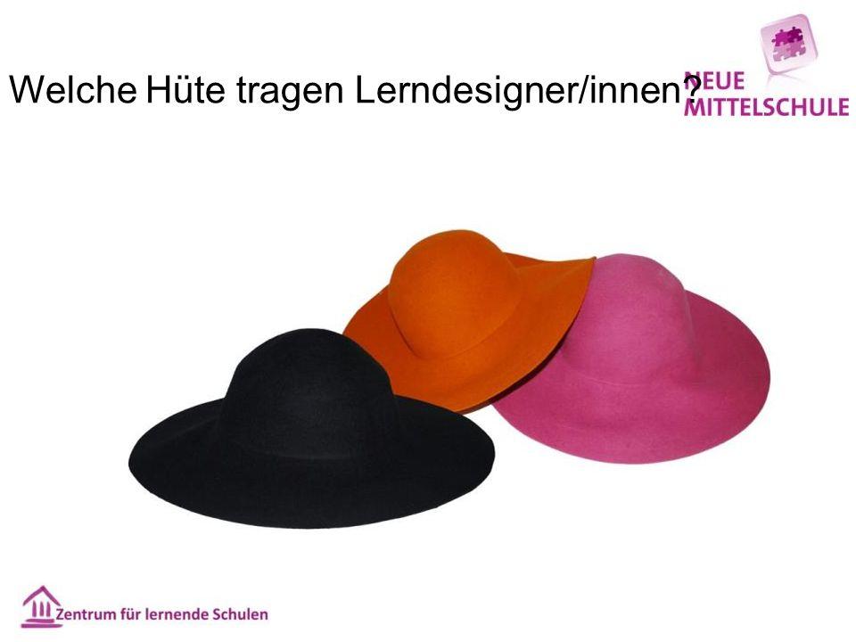 Welche Hüte tragen Lerndesigner/innen?