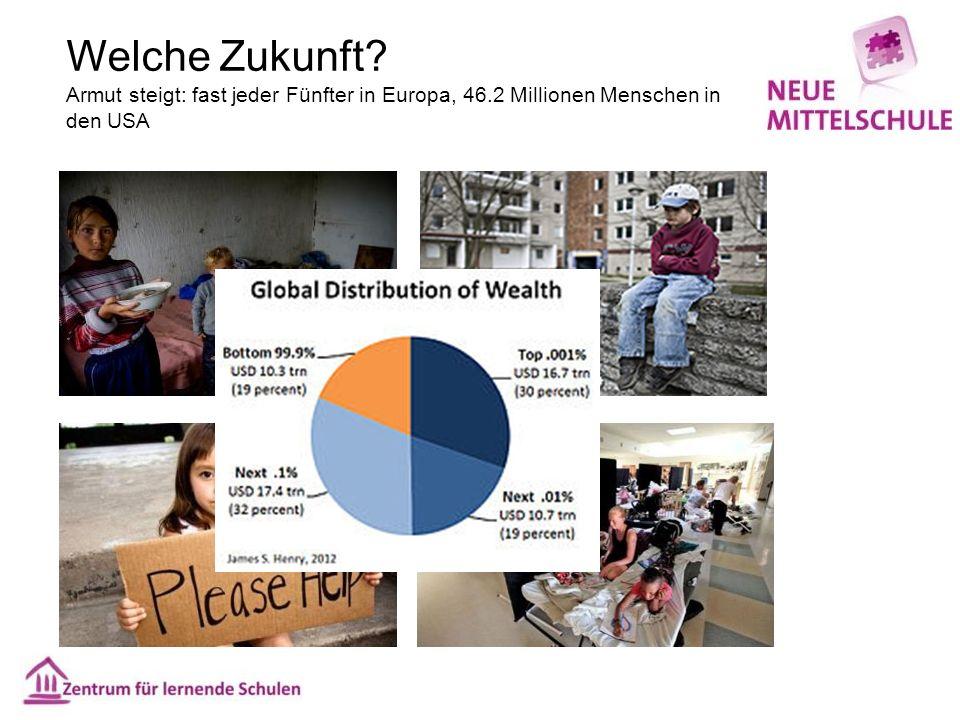 Welche Zukunft? Armut steigt: fast jeder Fünfter in Europa, 46.2 Millionen Menschen in den USA