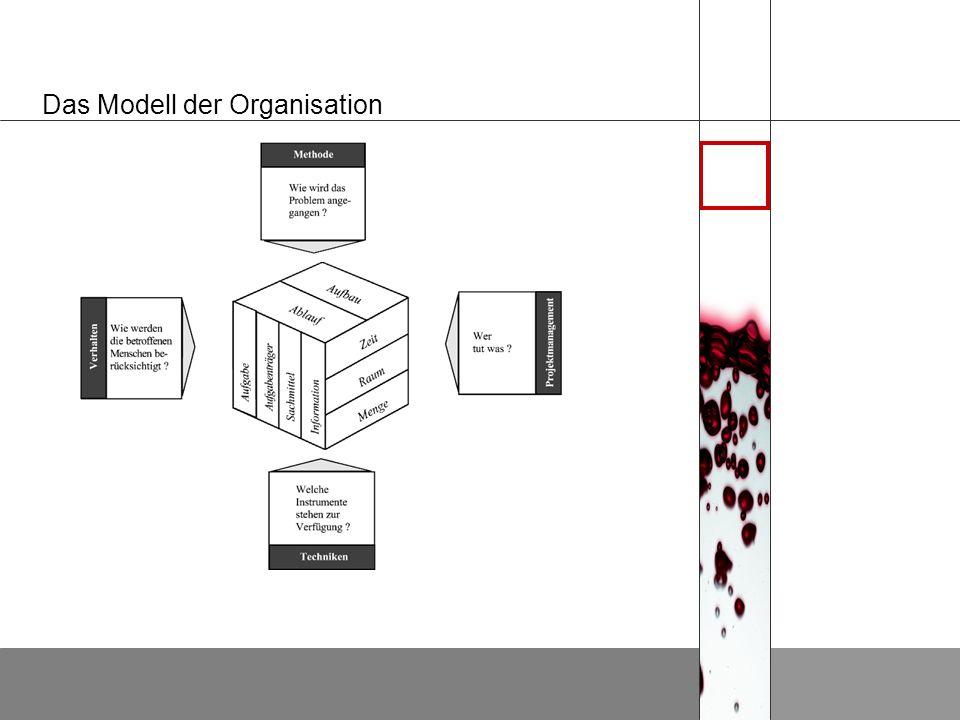 Organisatorische Tätigkeitsfelder