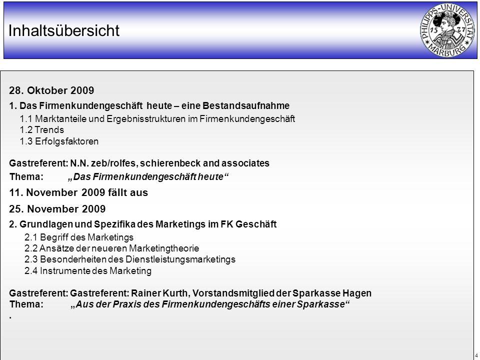 WS 2005/2006 Prof. Dr. Klaus Juncker 4 Inhaltsübersicht 28.