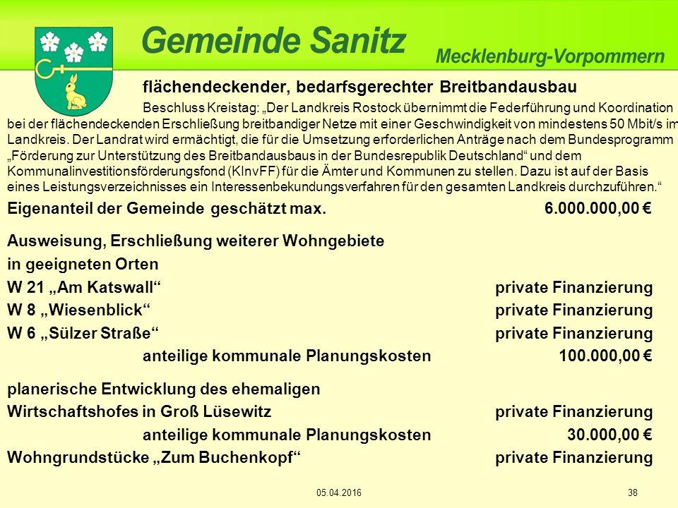 """flächendeckender, bedarfsgerechter Breitbandausbau Beschluss Kreistag: """"Der Landkreis Rostock übernimmt die Federführung und Koordination bei der fläc"""