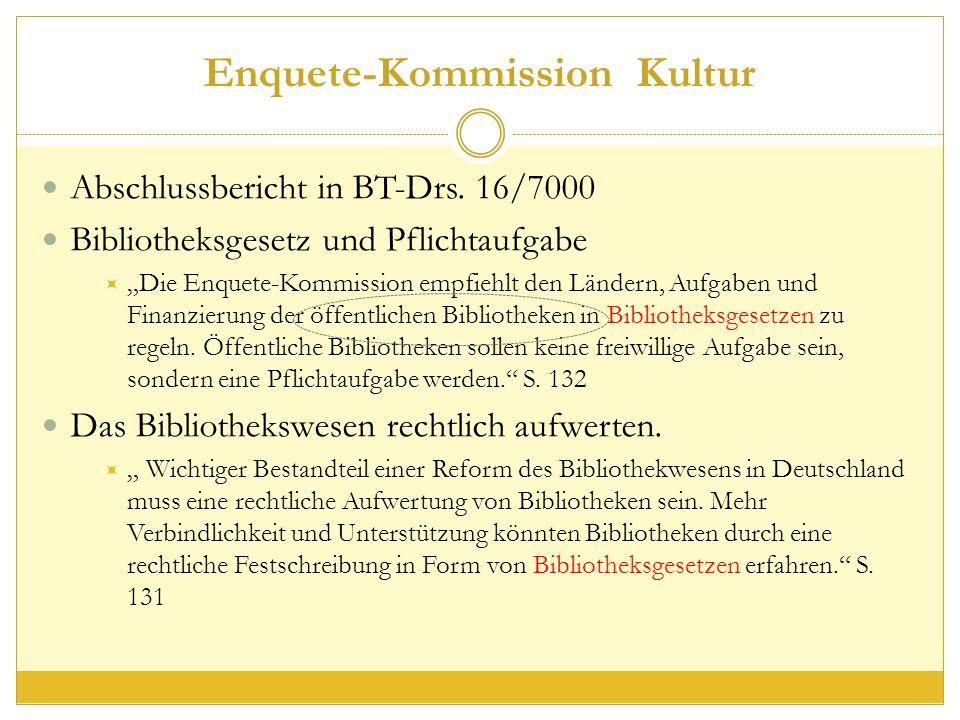 Enquete-Kommission Kultur Abschlussbericht in BT-Drs.