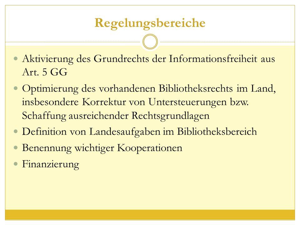 Regelungsbereiche Aktivierung des Grundrechts der Informationsfreiheit aus Art.